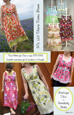 Serendipity Claire Cami Dress Pattern