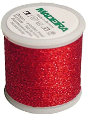 Madeira Supertwist Metallic Ruby Red