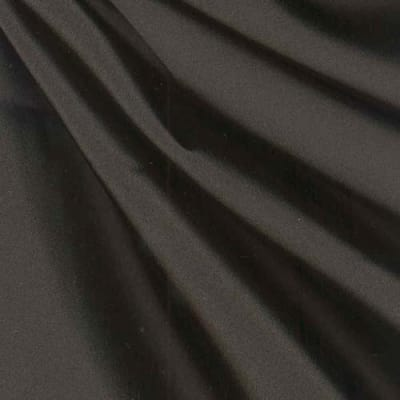 Debutante Stretch Satin Fabric Onyx Black