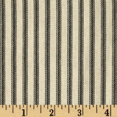 Vertical Ticking Stripe Black/Ivory