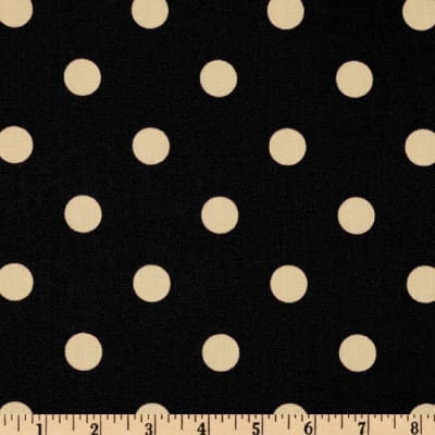 Premier Prints Indoor/Outdoor Polka Dot Ebony