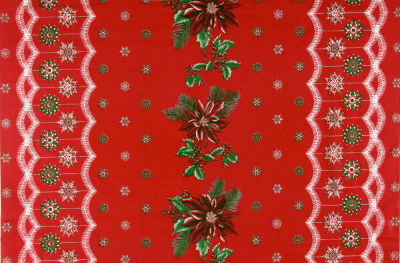 Oil Cloth Christmas Red