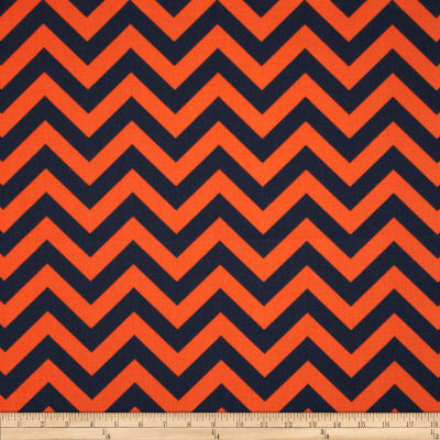 Premier Prints Zig Zag Navy/Orange