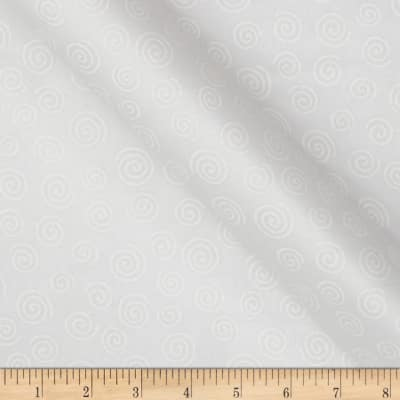 """110""""  Wide Quilt Backing Swirl White"""