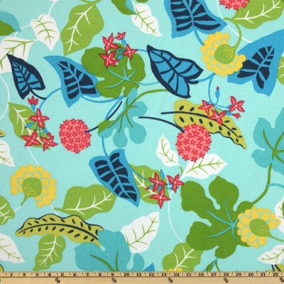 Robert Allen @ Home Indoor/Outdoor Baja Floral Turquoise