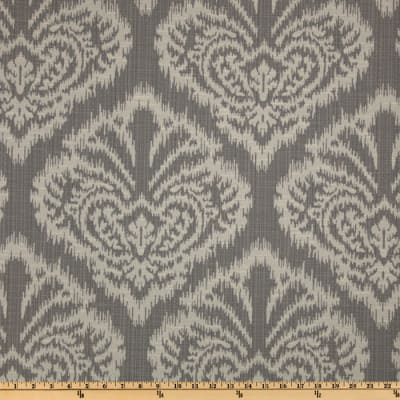 Robert Allen @ Home Ikat Damask Woven Jacquard Pewter