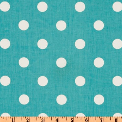 Premier Prints Polka Dot Twill Girly Blue/White