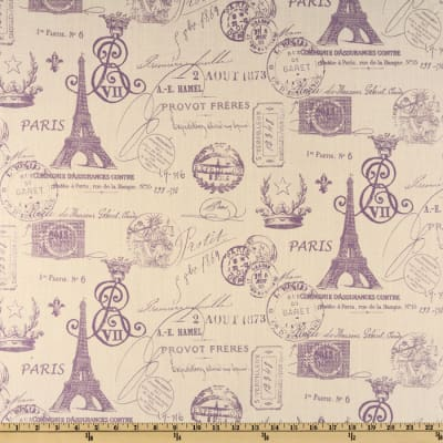 Premier Prints French Stamp Dossett Slub Grapevine/Natural