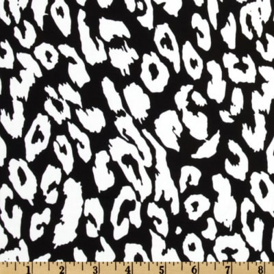 Stretch Cotton Sateen Jaguar Black/White