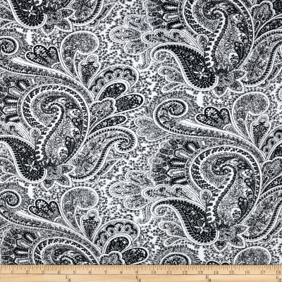 Premier Prints Paisley Black/White