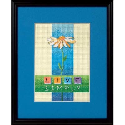 Dimensions Live Simply 5'' x 7'' Mini Counted Cross Stitch Kit