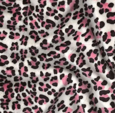 Shannon Minky Cuddle Leopard Ivory/Pink