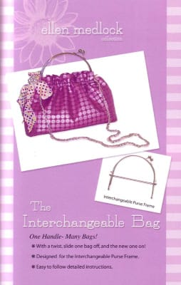 Ellen Medlock The Interchangeable Bag Pattern, Frame & Handle Set