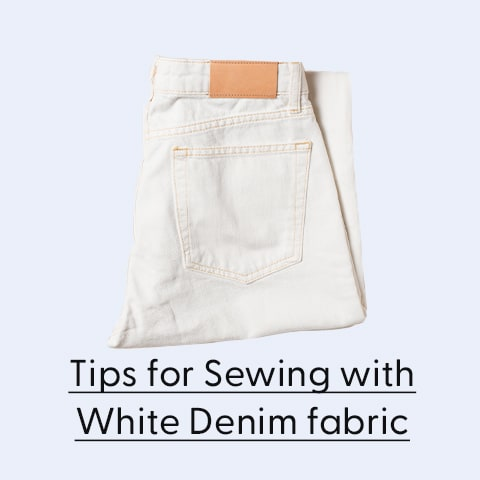 Sewing with white denim