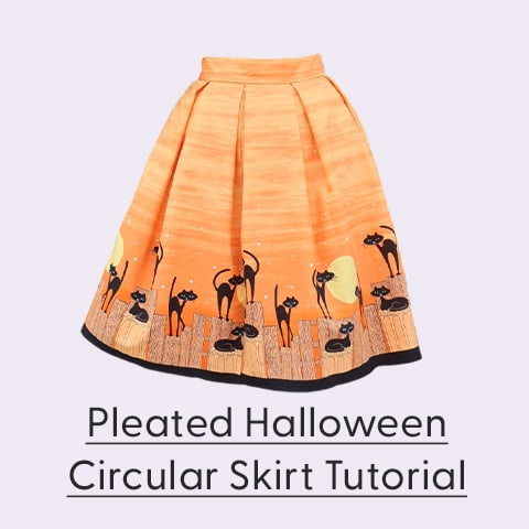Halloween Pleated Skirt