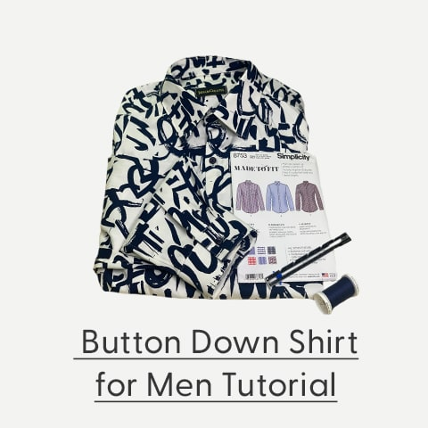 Men's button down shirt tutorial