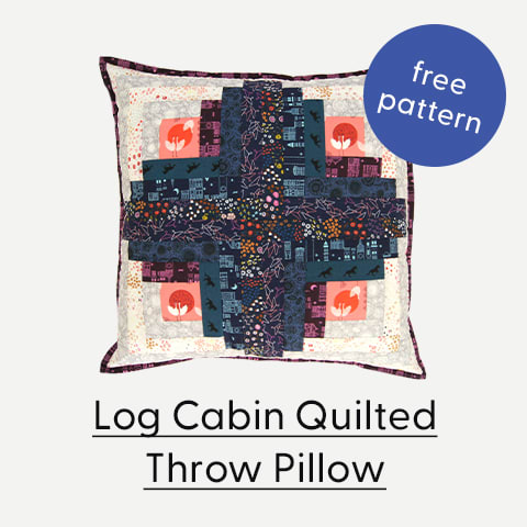 Log Cabin Quilted Throw Pillows
