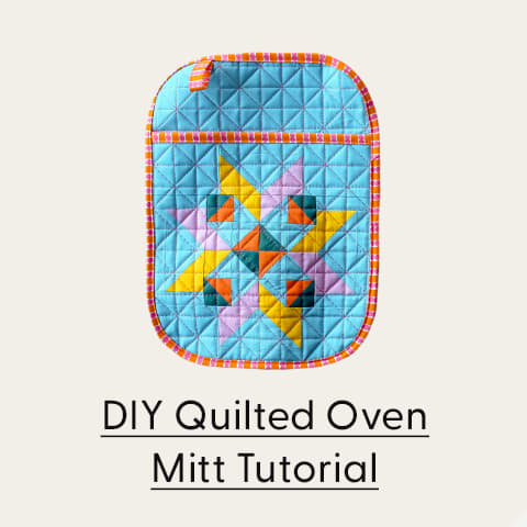 DIY Quilted Oven Mitt Tutorial