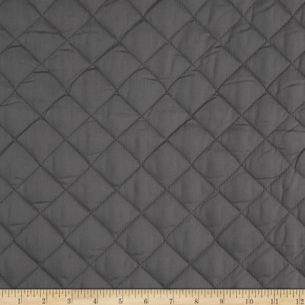 Double Sided Quilted Broadcloth Dark Grey