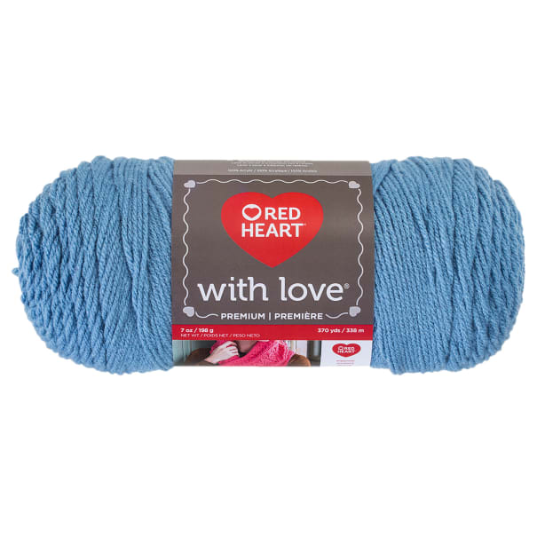 NEW Red Heart with Love Yarn 2-7 oz Skeins Same Dye Lot BLUEBELL
