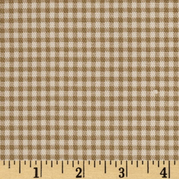 Small Check Ivory Brown