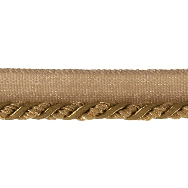 """Mariel 1/4"""" Twisted Cord with Lip Trim Gold"""