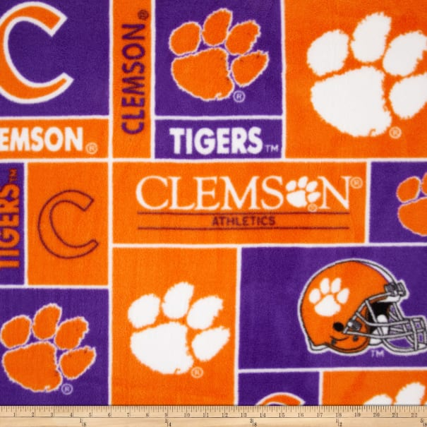 Sykel Enterprises NCAA Clemson Collegiate Realtree TEAM COLOR Fabric by the Yard