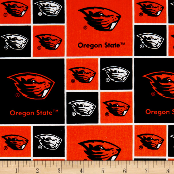 NCAA Oregon State Beavers Broadcloth Orange
