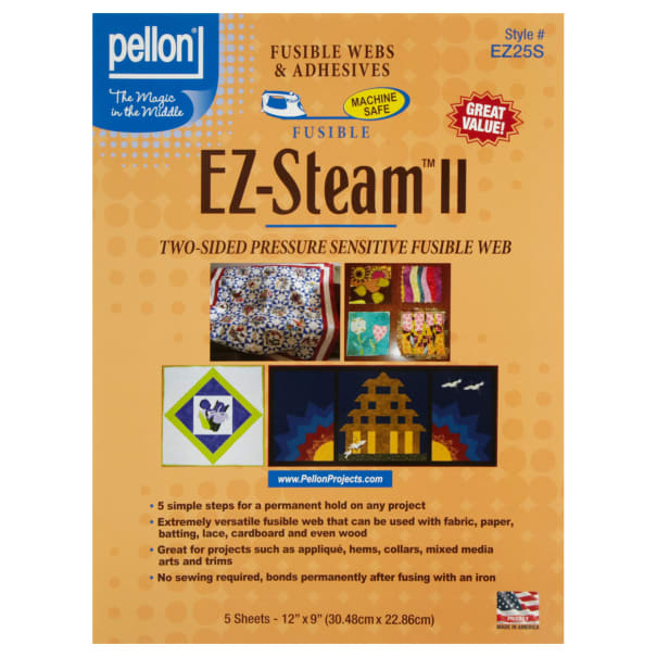 EZ-Steam II Sheets Two-Sided Sticky Back Fusible Web