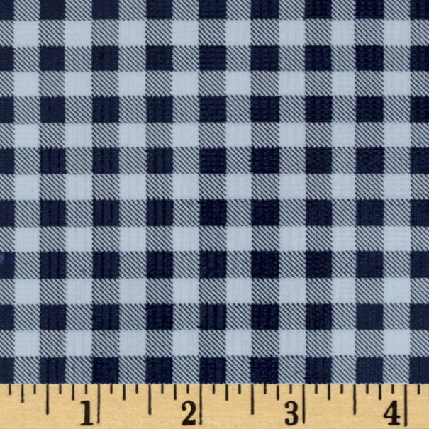 Oilcloth Gingham Navy