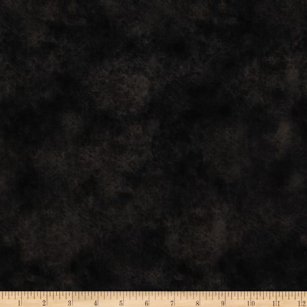 """Round Up 115"""" Wide Quilt Backing Leather Texture Black"""