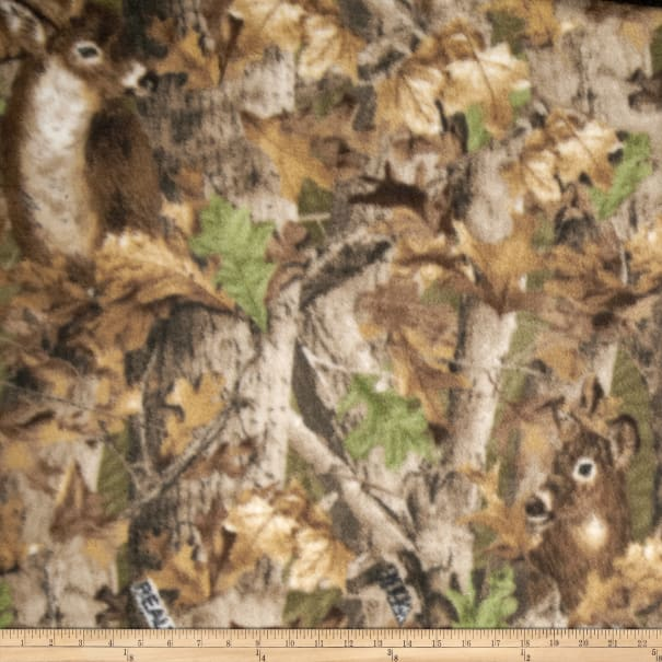 Realtree Deer Camo Print Fleece