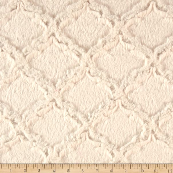 Shannon Minky Luxe Cuddle Lattice Ivory