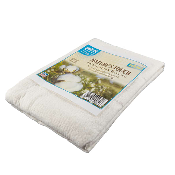 Crib-Sized 45 in Pellon Natures Touch Natural Blend 80//20 Batting Packaged x 60 in