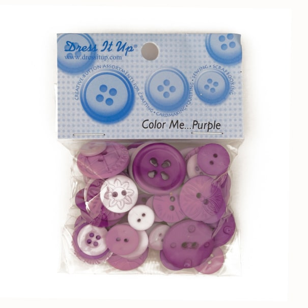 Dress It Up Color Me Collection Buttons Purple