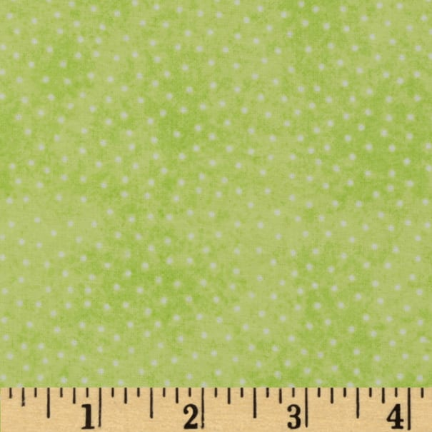 Comfy Flannel Micro Dot Lime Green
