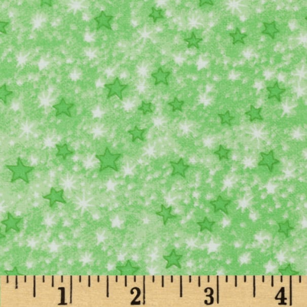 Comfy Flannel Stars Green