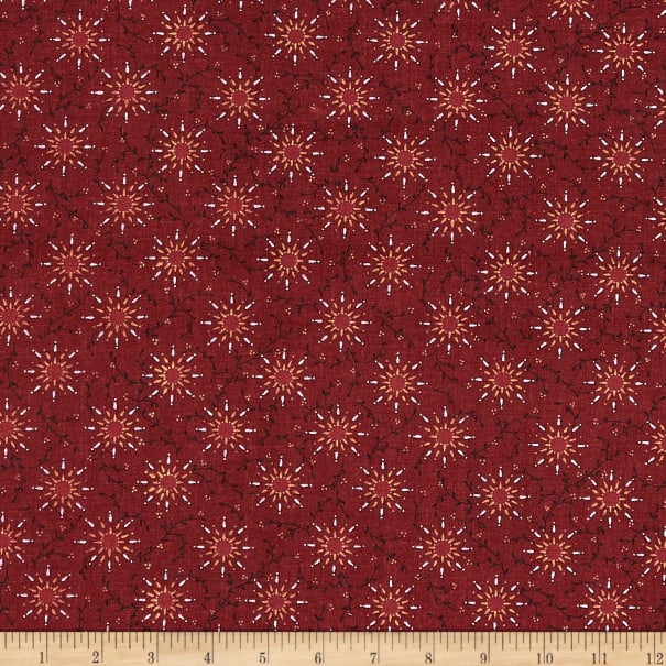 """108"""" Quilt Backing Pairie Vine Red"""