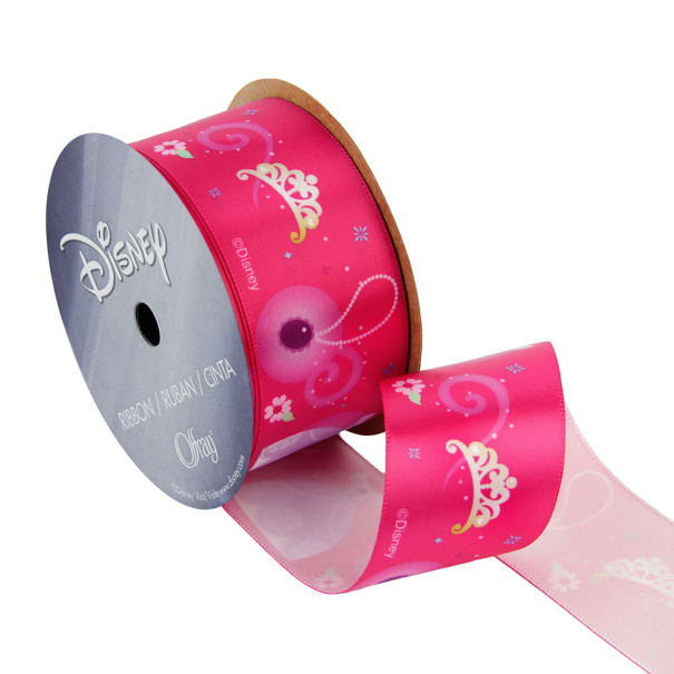 """1 1/2"""" Sofia The First Ribbon Icons Pink"""