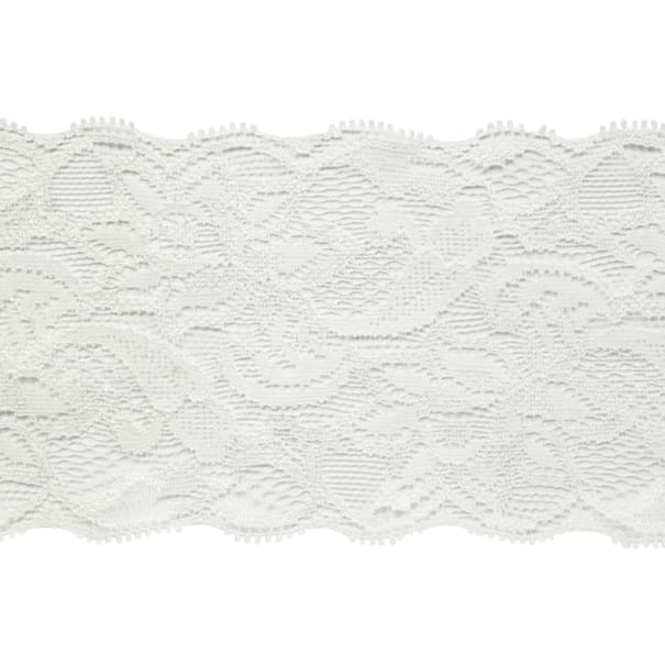 """7 1/2"""" Laurie Chantilly Lace Trim Ivory"""