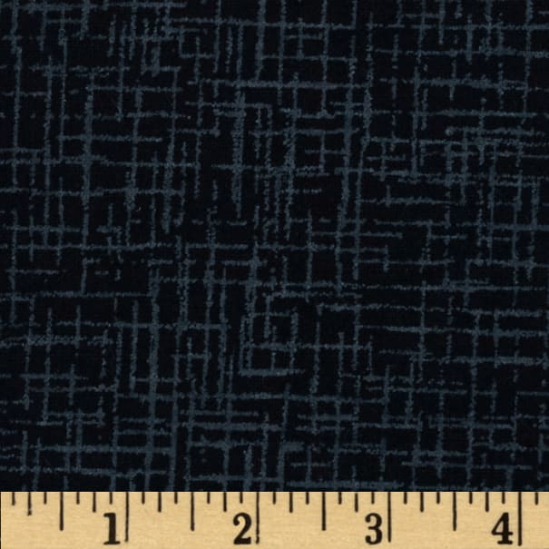 Westrade 110 In. Wide Quilt Back Betula Flannel Black