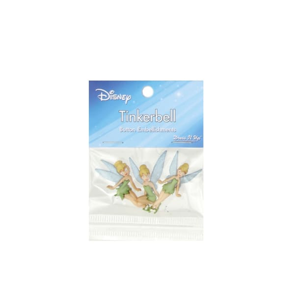 Dress It Up Disney Tinkerbell Button