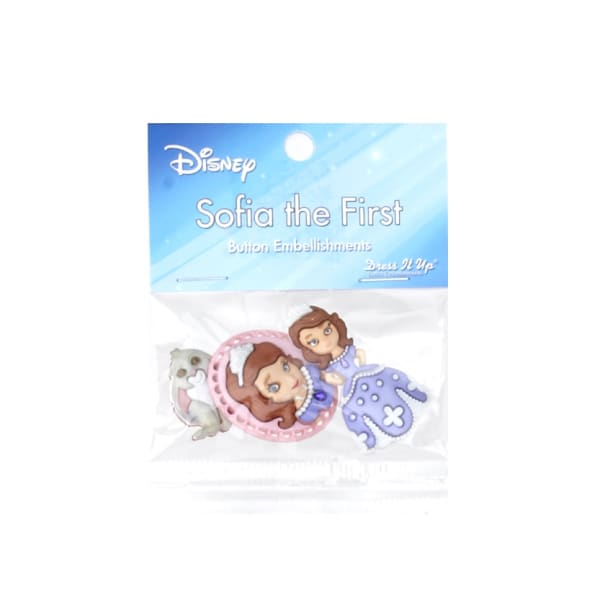 Dress It Up Disney Sofia the First Button