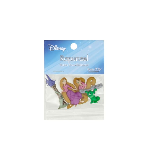 Dress It Up Disney Rapunzel Button