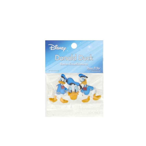 Dress It Up Disney Donald Duck Button
