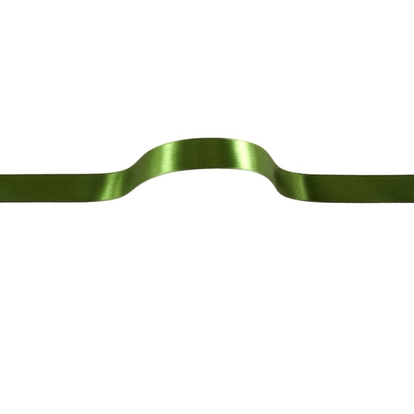 "5/8"" Offray Single Face Satin Ribbon Green"