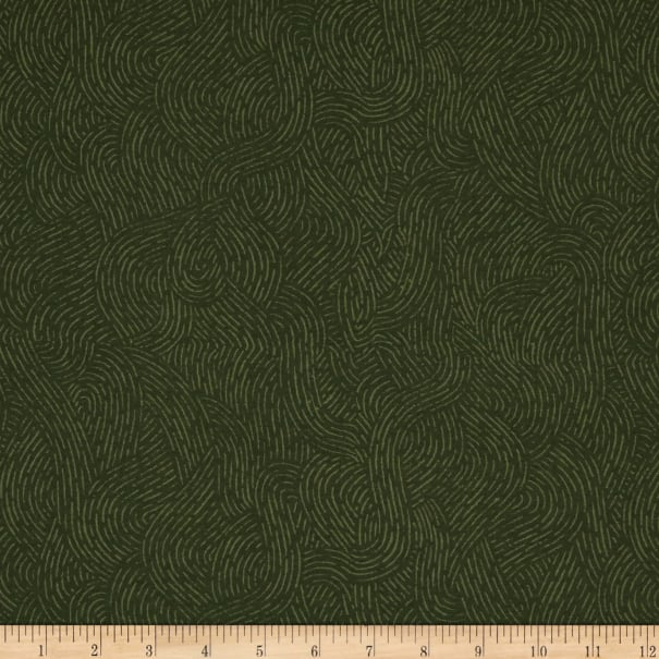 """Westrade 110"""" Wide Flannel Quilt Backing Seacoast Olive"""