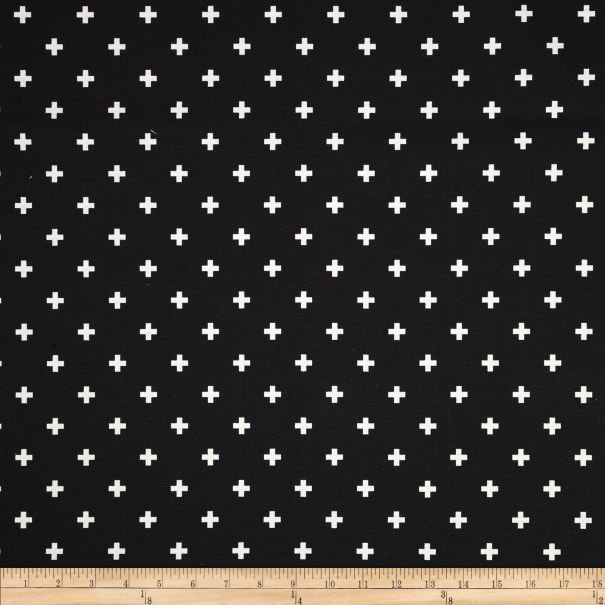 Premier Prints Mini Swiss Cross Black