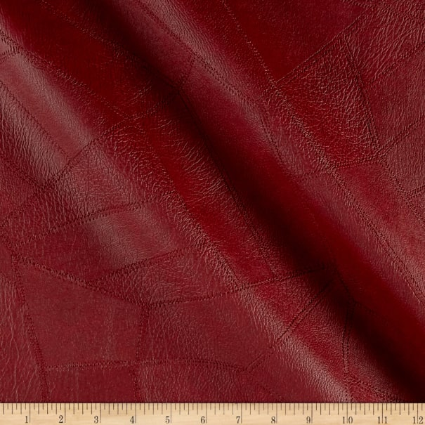 Faux Leather Patchwork Burgundy