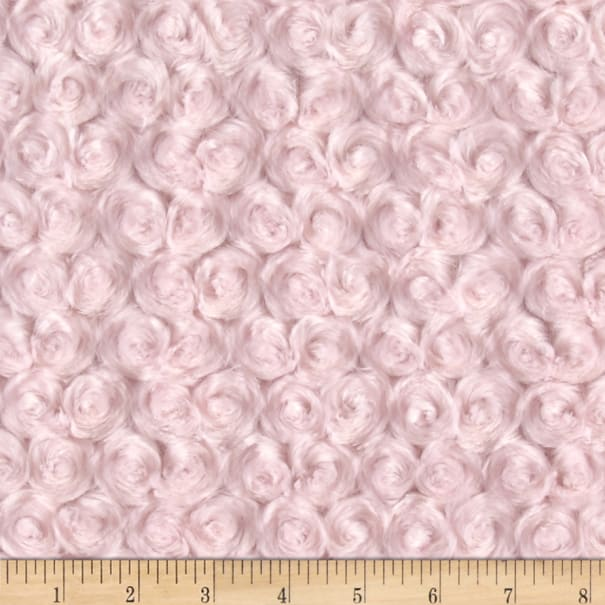 Shannon Minky Luxe Cuddle Rose Ice Pink